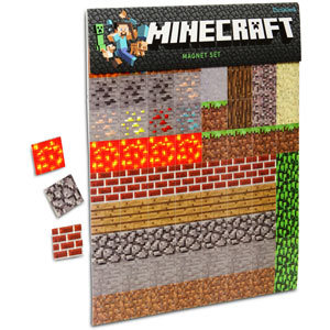 (via ThinkGeek :: Minecraft Sheet Magnets)