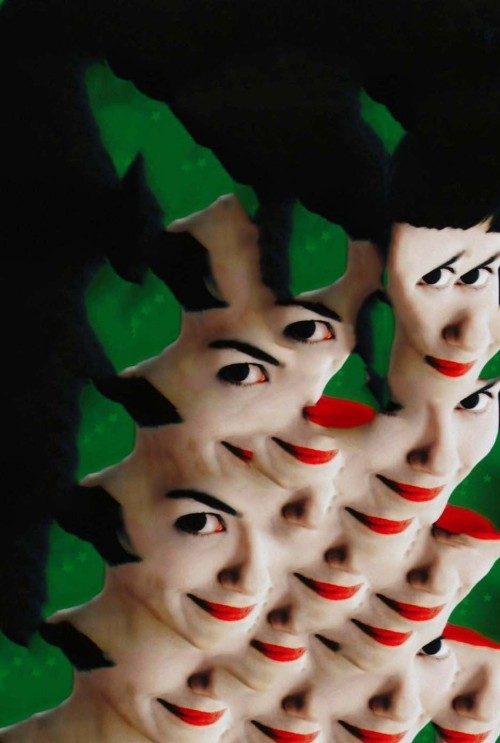 "Collage made from the movie poster for "" Amelie"""