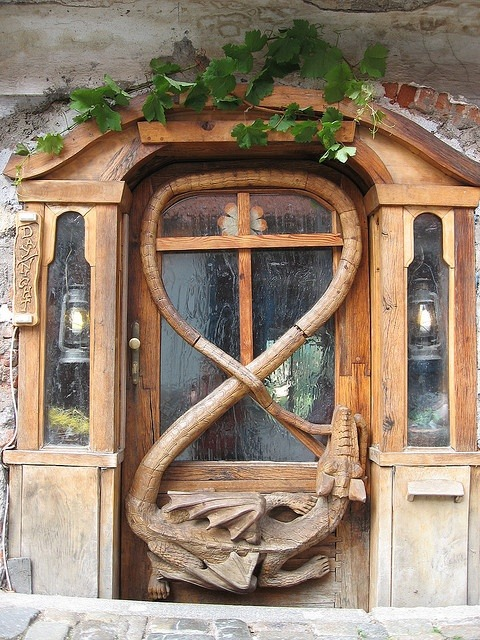 elegantspell:  Dragon Door at Krumlov House.