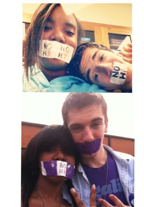 TOP: 2012 Day of Silence BOTTOM: 2013 Day of Silence Me and my best friend Tyler