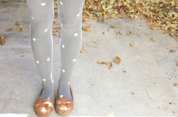Check out DIY Patterned Heart Tights by Lemon Jitters!  (Image Credit: Lemon Jitters)