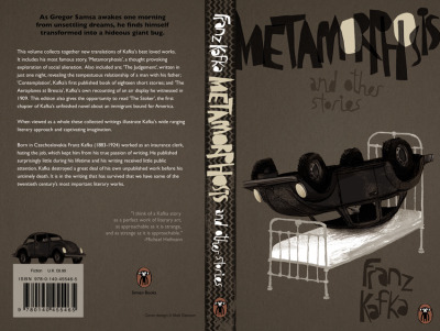 Metamorphosis by Franz Kafka - book cover design