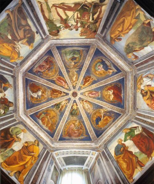 Luca Signorelli c. 1477-1482 View of the Vaulting of the Sacristy of Saint John