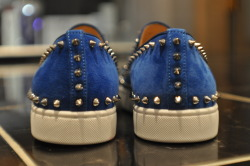 New Christian Louboutin - Pikboat in sapphire blue