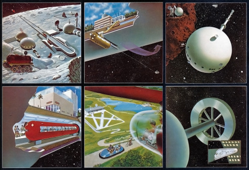 Roy Coombes 'Island Three Space Colony' from Harry Harrison's book 'Mechanismo' (1978)