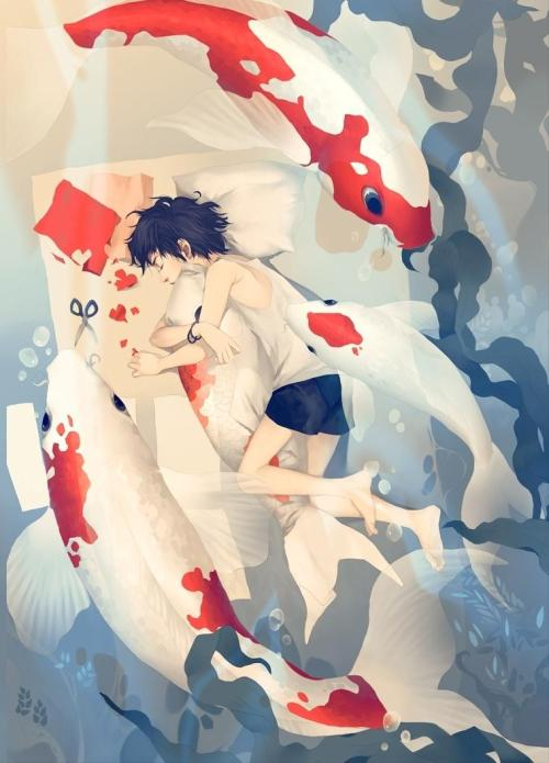 artmonia:  Dreaming of Koi | Dark134.