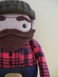 ikhouvanbaarden:  Lumberjack Doll   I feel like I've come to life in plush form.