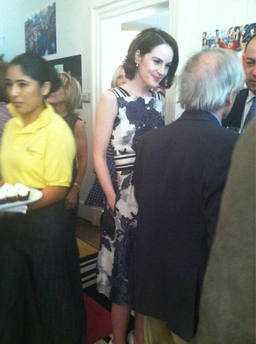 "oneithersidetheriverlie:  bodaciouscans:  Michelle Dockery at WHCD Brunch  she has POCKETS!!!! (her only designer requirement)  ""The pockets make me feel so cool."""