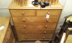 In Shop: Victorian Pine 2 Over 4 Chest Of Drawers £295