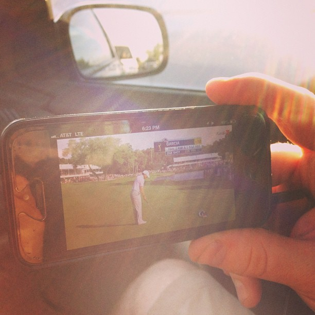 Watching TPC on @moneyries iPhone via @FilmOnTV #golf #technology (at Major Deegan Expressway (I-87))