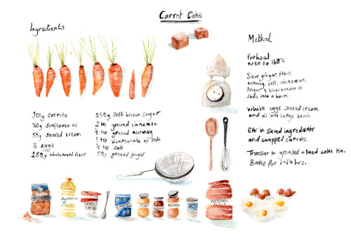 This 'Foodie Thursday' is Illustrated!  Carrot cake