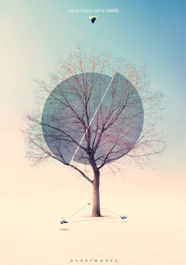 (via SAVE TREES SAVE EARTH on Behance)