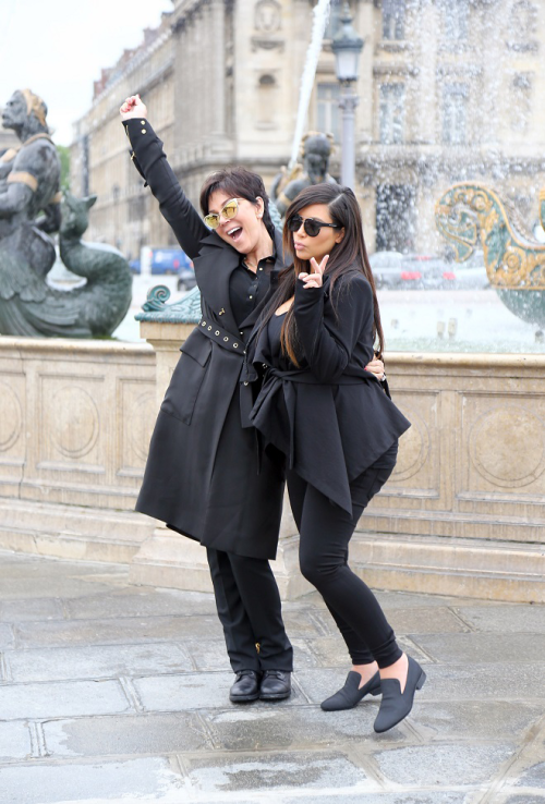 May 21, 2013 - Kim and Kris visiting The Place De La Concorde in Paris.