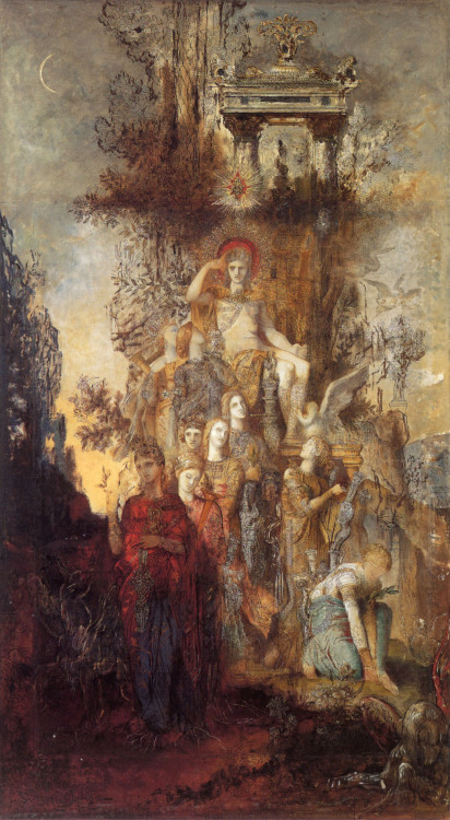 nataliakoptseva:  Gustave Moreau The muses leaving their father Apollo to go and enlighten the world