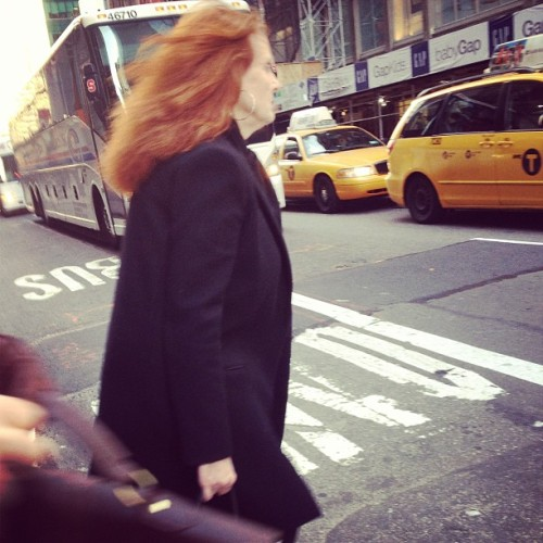 Look who walked out of the building with me!  My idol!  #gracecoddington #vogue #success #dreams