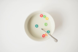 readcereal:  Fruit Loops milk.  From Cereal magazine Volume 1 Photo by Samantha Goh