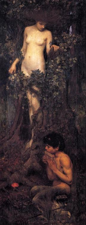 pre-raphaelisme:  A Hamadryad by John William Waterhouse