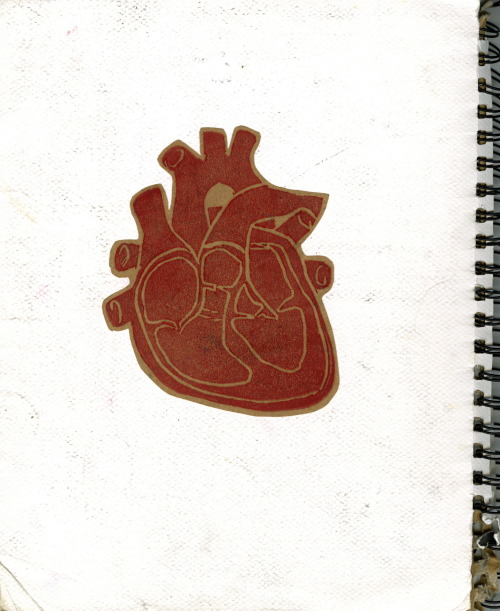 ORIGINAL POST. hearts 2. relief printing is so much fun! fooling around in class one day…