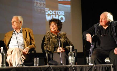 Radio Times Writeup of the BFI's first 'Doctor Who at 50' Screening Radio Times has a great writeup of this past Saturday's all star panel to celebrate the First Doctor at BFI Southbank:   Saturday was a big day for Doctor Who – the programme and fans – as the British Film Institute launched Doctor Who at 50, its year-long celebration of the Time Lord. Every month they'll be screening a classic story for each Doctor and reuniting many luminaries from the world of Who. To kick off, it was right back to the very beginning, to An Unearthly Child, the atmospheric four-part serial that launched the series on BBCtv in November and December 1963. And it was amazing how many guests were able to attend, people directly involved on that programme or with the era of the first Doctor, William Hartnell. They included (pictured above) William Russell and Carole Ann Ford (companions Ian and Susan) and Jeremy Young, who played the first villain….   Click through to read the entire piece.