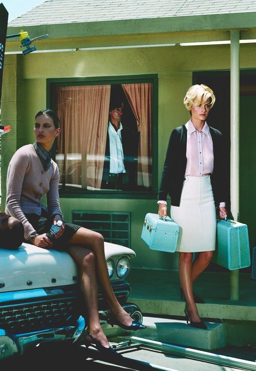Karolina Kurkova & Amber Valleta by Steven Meisel for Vogue Italia.