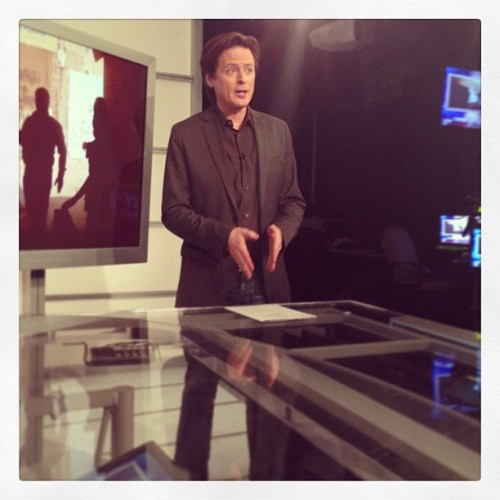 On-air w/ @johnfugelsang @viewpointCTV #twibnation  (at Current TV New York Studios)