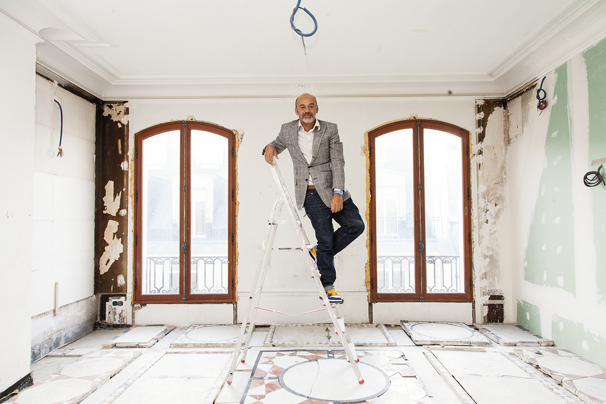 He looks so cool herehttp://theselby.com/galleries/christian-louboutin/