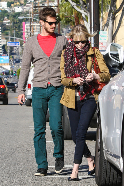 Andrew Garfield & Emma Stone out in Los Angeles, December 21.