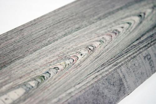 99percentinvisible:  Newspaper wood