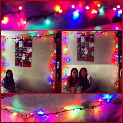 My room is so pretty now :3 #lights #christmas #colourful  #friend