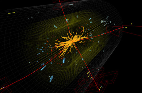 "Higgs Boson Discovery = Cosmic Doomsday? If calculations of the newly discovered Higgs boson particle are correct, one day, tens of billions of years from now, the universe will disappear at the speed of light, replaced by a strange, alternative dimension, one theoretical physicist calls ""boring."" Read more"