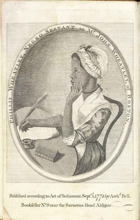 (via Poetry Matters: Phillis Wheatley, Poetic Matters: Phillis Wheatley, The Slave Girl Who Became a Literary Sensation | Around The Mall)  Having found herself as a poet, Phillis Wheatley (c. 1753-1784) discovered that she and her voice became appropriated by a white elite that quickly tired of her novelty. Image courtesy of the National Portrait Galley