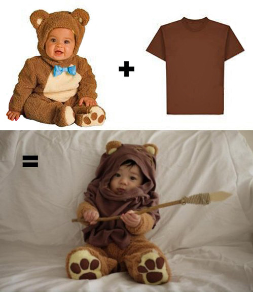 tastefullyoffensive:  DIY Ewok Costume[via]  Reblogging for my brother in law.