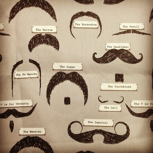 Moustache Fabric 👨 #moustache #creativejuicesflowing