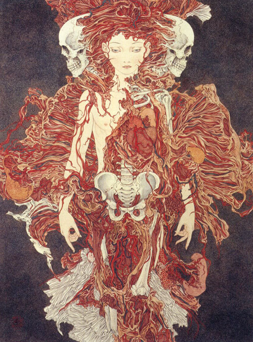 "ssdmmfr:  Artist: Takato Yamamoto  ""Transformation of a Sanctuary""  (also known as ""Sacred Mutant Birth"")"