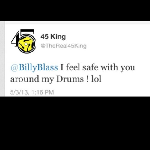 From the #Pioneer himself @thereal45king #45king #HardknockLife #Stan PLEASE if you dont know him do your homework.. #HONORED..!!