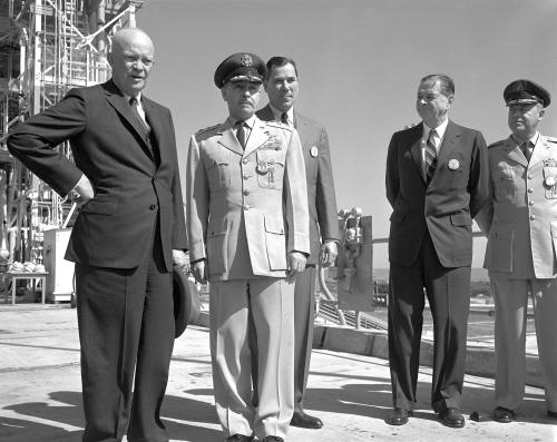 President Dwight D. Eisenhower visits Cape Kennedy.