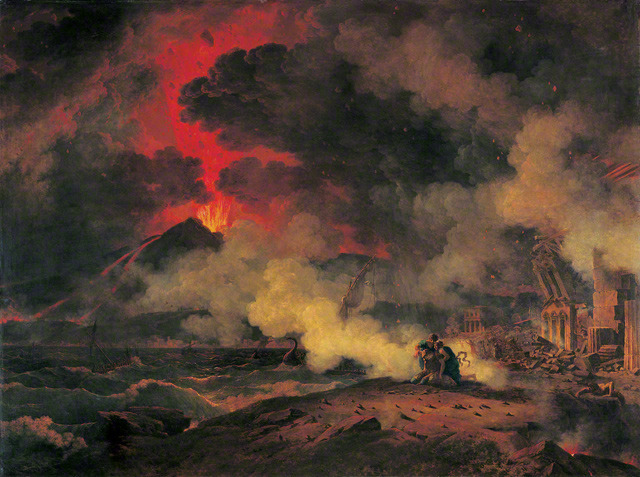 museumuesum:  Pierre Henri de Valenciennes The Eruption of Vesuvius, 24 August A.D. 79, 1813 Oil on canvas, 58 1/16 x 76 15/16 in. (147.5 x 195.5 cm).