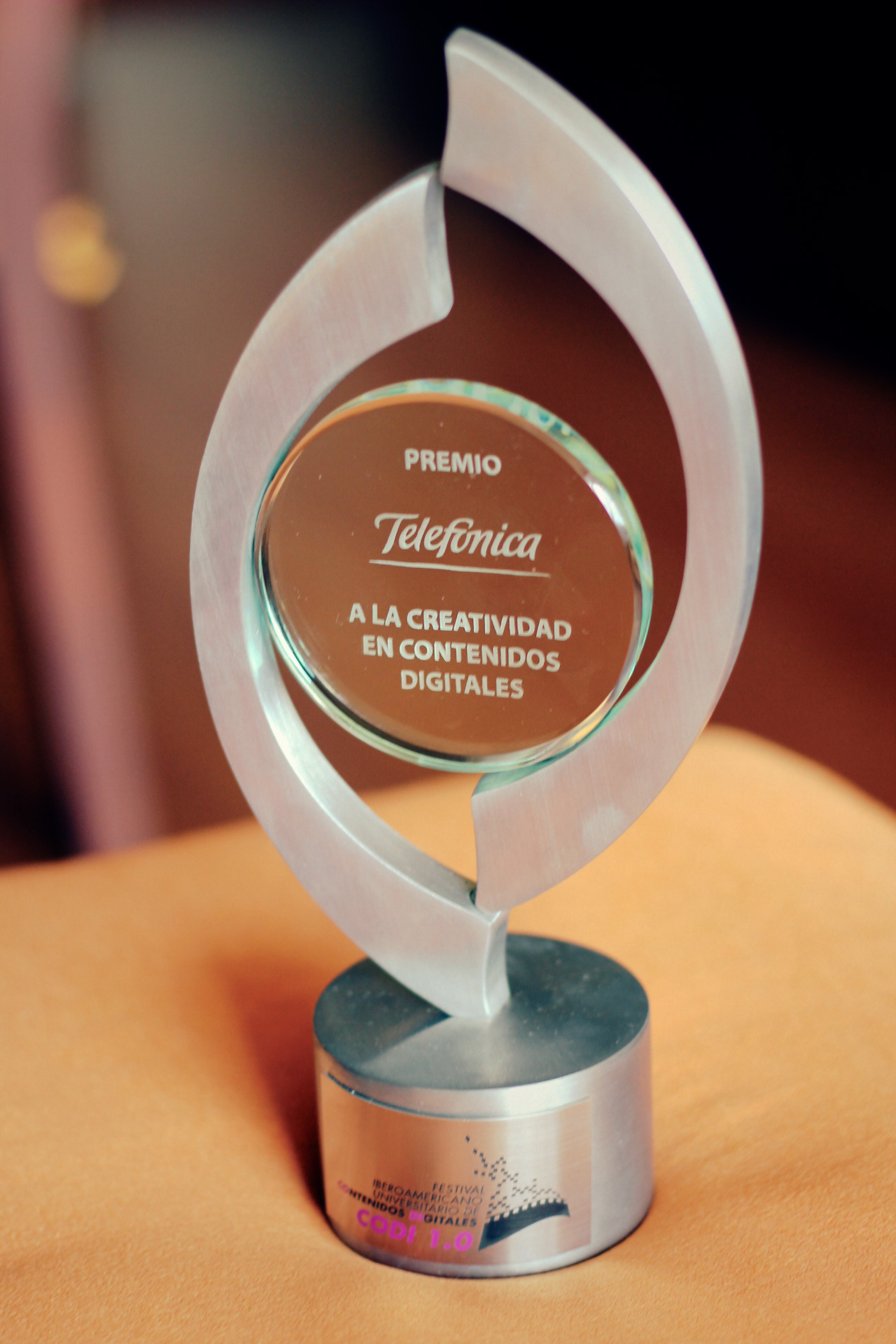 Telefónica award for Creativity in Digital Content for Our World Short Film in the I Iberoamerican Universities Festival in Digital Content (CODI) celebrated at the XIV Felafacs meeting 2012. Premio Telefónica a la Creatividad en Contenidos Digitales por Our World Short Film en el I Festival Iberoamericano Universitario de Contenidos Digitales (CODI) celebrado en el XIV Encuentro de Felafacs 2012.