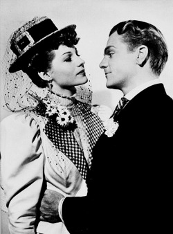 Rita and James Cagney in promotion shot for The Strawberry Blonde (1941).