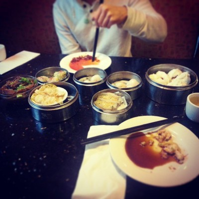 #dimsum on a gloomy sunday morning with my sister and her bf. I can't wait for food in #China!