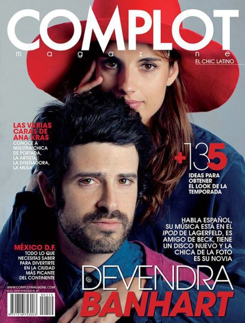 COMPLOT Magazine March 2013 Cover featuring Devendra Banhart & Ana Kras Photography Osvaldo Pontón. Sitting Director David Gómez-Villamediana