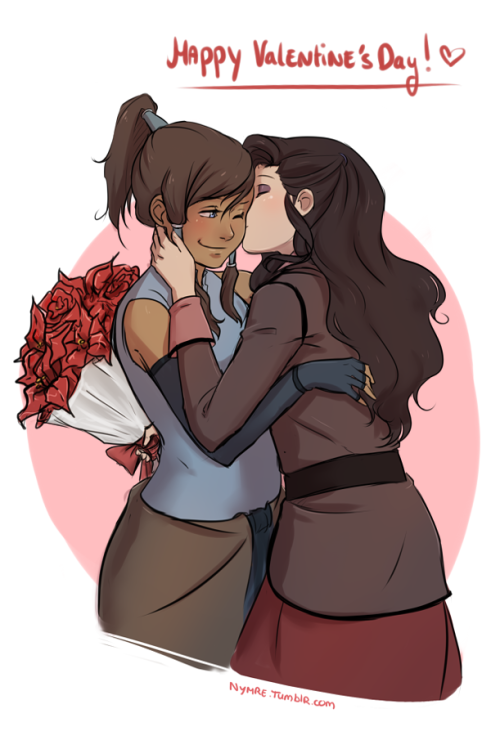 nymre:  So an anon asked me today who I thought Korra should be with. And so I realised that I hadn't drawn any Korrasami yet.  Korrasami ftw~