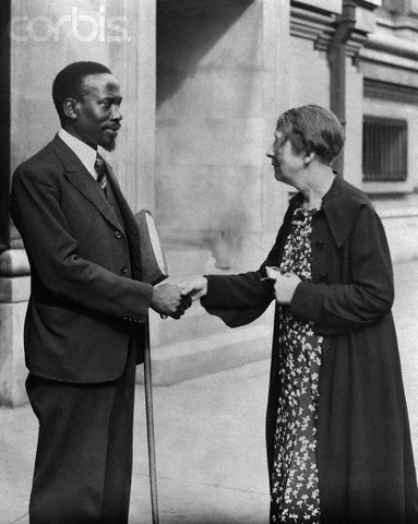 People Who Studied Abroad #576:Jomo Kenyatta, first prime minister and president of Kenya  From: Kenya  Studied: In 1931 he enrolled in Woodbrooke Quaker College in Birmingham, England.  From 1932-33 he studied economics at the Comintern School, University of the Toilers of the East in Moscow, USSR.  In 1934 he studied at University College London and in 1935 he studied at the London School of Economics.  [Kenyatta is pictured above with British political activist Sylvia Pankhurst]