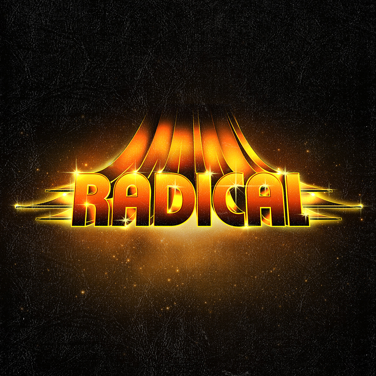 Radical - Retro Typographic experiment. The type of sticker you would put on your school books back in the 1980s.
