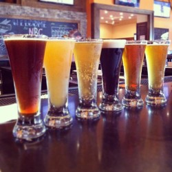 Fight for Flights.  Yesterday's #beer selections @NevinsBrewing.  #CCBW