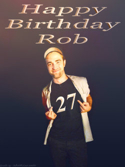creationsbyjules:  inrobwelust: Happy Birthday Rob!