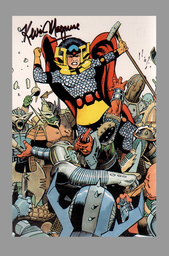 Big Barda by Kevin Maguire from the Justice League postcards