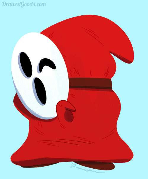 drawedgoods:  We're all drawing Mario characters.  So I drew a sexy Shy Guy. ~Drew  I drew this stupid thing.  Enjoy!