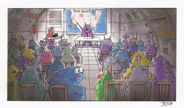 disneypixar:  Team meeting at Monsters, Inc.   I would love to sit in on this meeting.