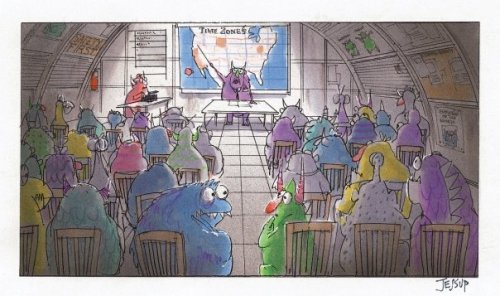 disneypixar:  Team meeting at Monsters, Inc.